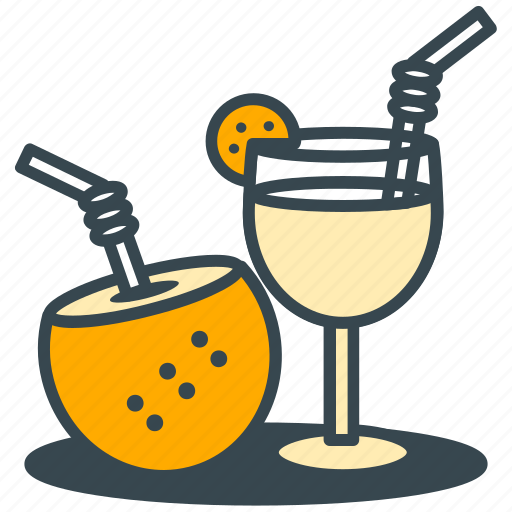 coconut, drinks, holiday, leisure, relaxation, summer icon