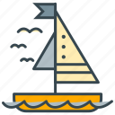 boat, sail, holiday, ocean, sea, water, yacht