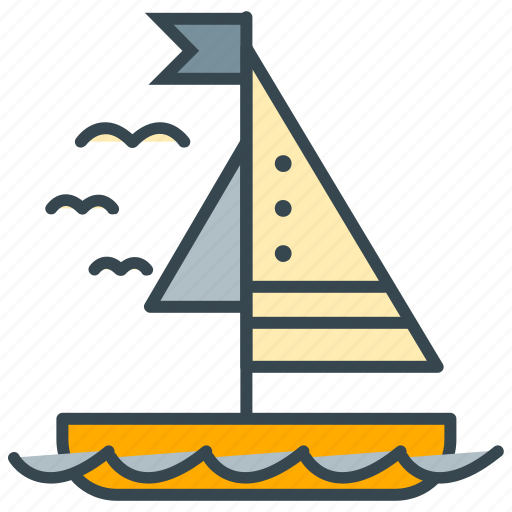 boat, holiday, ocean, sail, sea, water, yacht icon