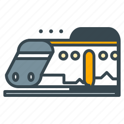 holiday, subway, train, transport, transportation, vehicle icon