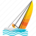 boat, holiday, sea, ship, travel, vacation icon