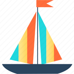 boat, holiday, holidays, sea, ship, travel icon