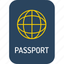 holiday, holidays, passport, traffic, transport, travel, vacation icon