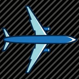 flat plane, holiday, plane, plane elements, summer icon