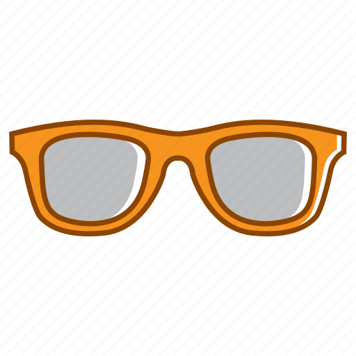 flat glasses, glasses, glasses elements, holiday, summer icon