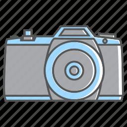 camera, flat camera, holiday, shoot, summer icon