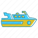 flat ship, holiday, ship, summer icon