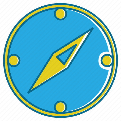 compass, east, flat compass, holiday, west icon