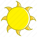 flat sun, holiday, summer, sun, sun elements