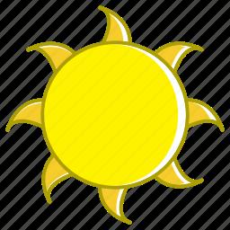 flat sun, holiday, summer, sun, sun elements icon