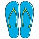holiday, sandal, summer, walk icon