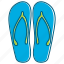 holiday, sandal, summer, walk icon