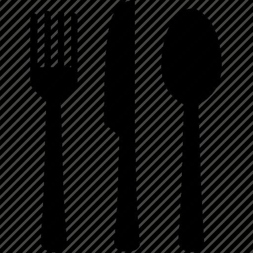 cutlery, fork, knife, meal, restaurants, spoon, utensils icon