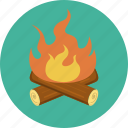 burn, camp fire, fire, wood icon