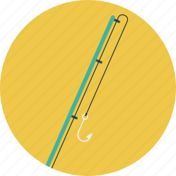 fishing, fishing rod, rod icon
