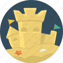 beach, sand, sand castle, sandcastle icon