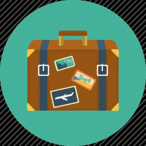 flight, journey, luggage, suitcase, travel, trip icon