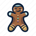 cookie, sweet, gingerbread, christmas, candy, man
