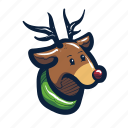 animal, christmas, deer, holiday, occasion, reindeer, wildlife