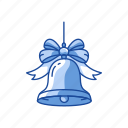 bell, christmas, decoration, sleigh bell icon