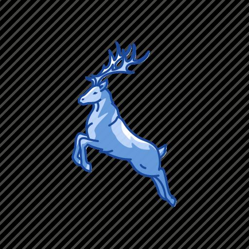 christmas, deer, reindeer, rudolph icon