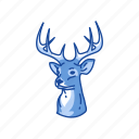 christmas, deer, reindeer, rudolph icon
