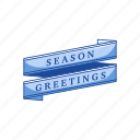 banner, merry christmas, season, season greetings icon
