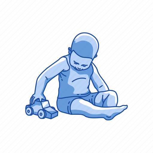 boy, kid, playing, presents icon