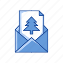 card, christmas letter, greetings, letter icon