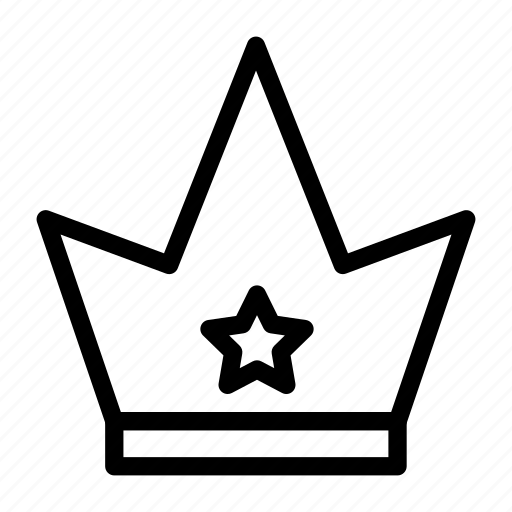 Grade, king, queen, crown, reward icon