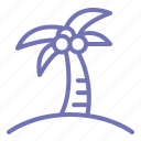 beach, coconut, holiday, summer, tree icon