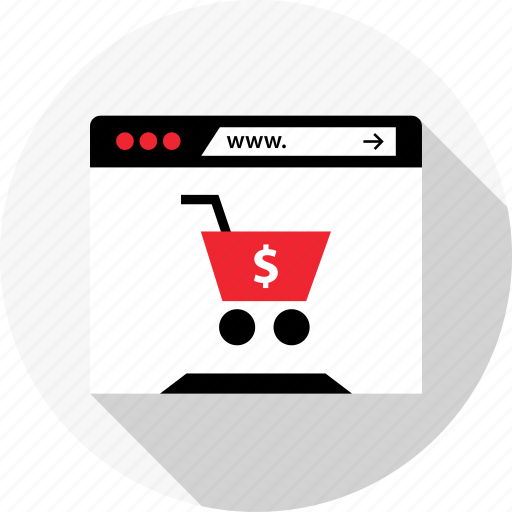 browser, cart, online, open, shop, store icon