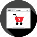 browser, cart, internet, open, shop, store icon