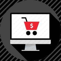 cart, internet, open, pc, shop, store icon