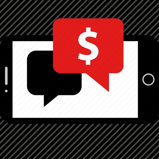 chat, dollar, money, send icon