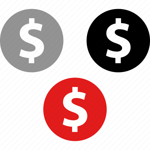 coins, dollar, payment icon