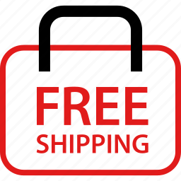 bag, free, shipping icon