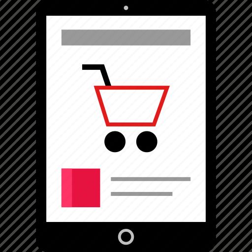 amazon, ipad, shopping icon
