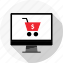 cart, online, open, pc, shop, store icon