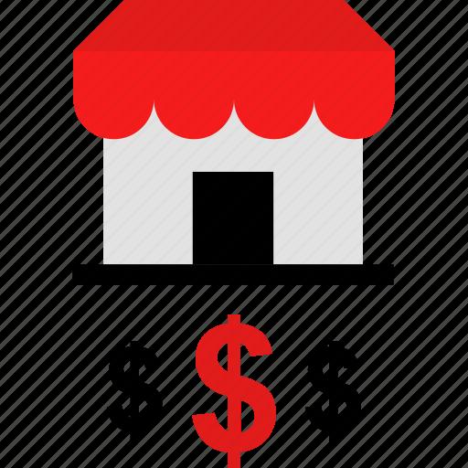 dollar, money, shop, store icon