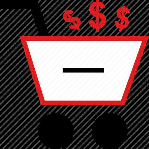 cart, dollars, shopping icon