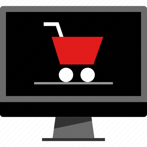 cart, pc, shopping icon