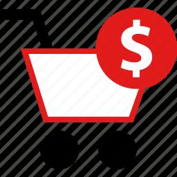 dollar, online, shopping icon