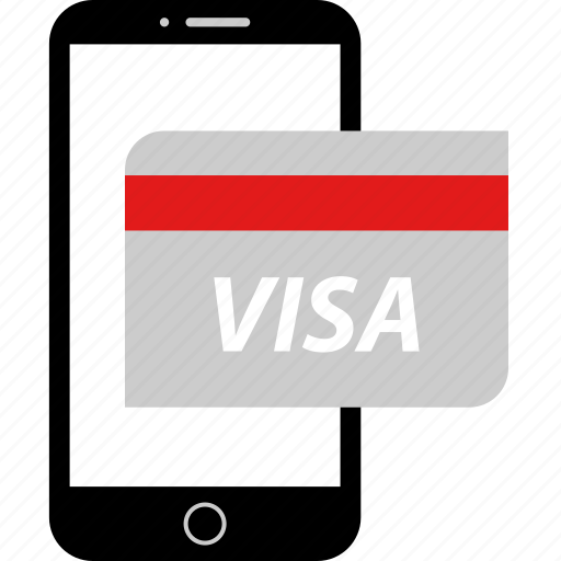 card, credit, visa icon