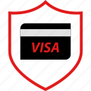 secured, security, visa icon