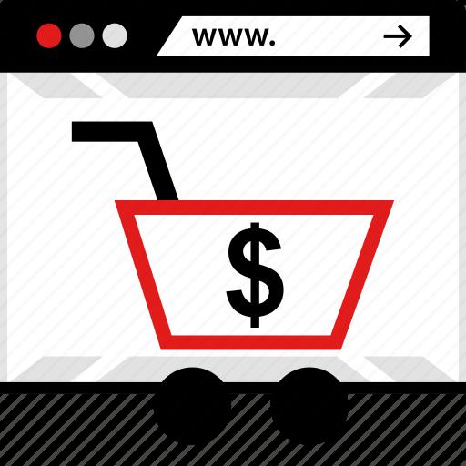 dollar, online, web, www icon