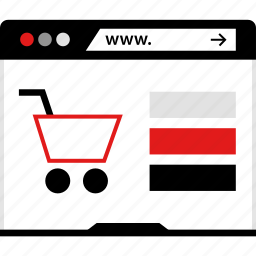 cart, shopping, www icon