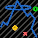 god, holy, mountain, word icon