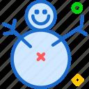 cold, fat, ice, snowman, winter icon