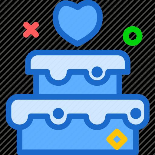 bound, cake, family, groom, husband, wedding, wife icon